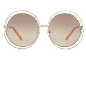 Chloe Carlina gold round glasses. Like new.